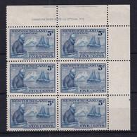 Newfoundland: 1941   50th Anniv Of Wilfred Grenfell's Labrador Mission [printer Imprint]   MNH Block Of 6 - 1908-1947
