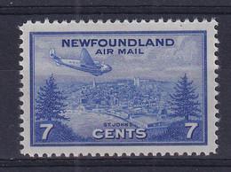 Newfoundland: 1943   Air - St John's  SG291   7c   MH - 1908-1947