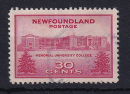 Newfoundland: 1943   Memorial University College    Used - 1908-1947