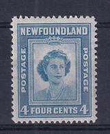 Newfoundland: 1947   Princess Elizabeth's 21st Birthday  SG293   4c   MH - 1908-1947
