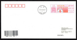 CHINA 2021 ShenYang Covid-19 Postage Meter FDC:Overcome The Difficult Together,Keep Safe ShenYang City - Disease