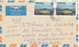 Tanzania Air Mail Cover Sent To Denmark 1987 Topic Stamps FISH - Tanzania (1964-...)