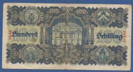 AUSTRIA - P.118 – 100 Schilling 29.05.1945 - Circulated Serie 1046 76517 - Austria