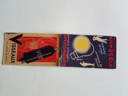 CARNET   PUBLICITE   LES  LAMPES  VISSEAUX - Advertising