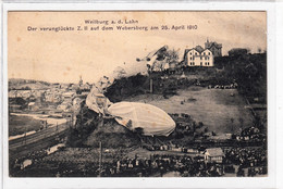 WEILBURG  LAHN   1910  -  ZEPPELIN  LUFTSCHIFF Z II   , Dirigibile , Airship , Hessen - Aeronaves