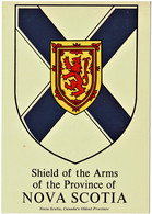 Shield Of The Arms Of Nova Scotia, Canada - Unused - Unclassified
