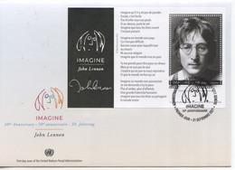 ONU Genève 2021 - John Lennon (Beatles) FDC Feuillet - FDC