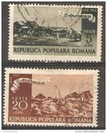 Romania - 1950 Ion Andrescu Used  Sc 725-6 - Gebraucht
