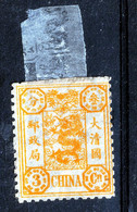 CHINA  1895  3   CENTS  MH  FULL GUM - Unused Stamps