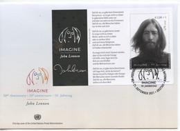 ONU Vienne 2021 - John Lennon (Beatles) FDC Feuillet - FDC
