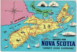 Greetings From Nova Scotia, Canada - Unused - Unclassified