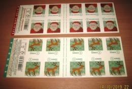 Boekje 159 & 160** Setje Kerstboekjes Van 2016 - Carnets De Noël Des Années Passées - Christmas- Weinachten - Postzegelboekjes 1953-....