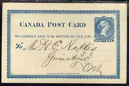 Canada 1877 1c P/stat Card Used To Ontario With Statement Of Account From The Toronto News - Covers & Documents