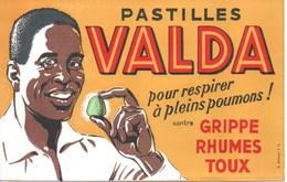 BUVARD BLOTTING PAPER ALIMENTAIRE PRODUITS PHARMACEUTIQUES PASTILLES VALDA - Produits Pharmaceutiques