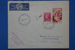 AD8 FRANCE  BELLE LETTRE 1948 1ER VOL  PARIS  POUR LIEGE  BELGIQUE + AFFRANCH. PLAISANT - 1927-1959 Brieven & Documenten