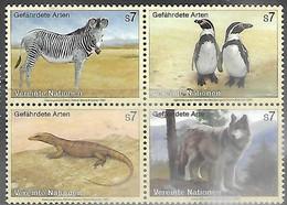 UN Vienna  1993  Sc#146a  WWF Endangered Species Block  MNH  2016 Scott Value $3.60 - Ungebraucht