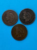 3 Pièces De 10 Centimes Cérès / Vendu En L'état - D. 10 Centimes