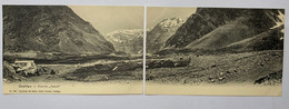 15702 -  Chile Cordillera Estacion Juncal  Carte Double Coupée En Son Milieu - Chile