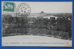 AD8 FRANCE  BELLE CARTE  1926 AVRANCHES  POUR ST LO  + AFFRANCH. PLAISANT - Covers & Documents