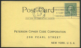 TUBERCULOSE - USA - N° 182 / CP AVEC O.M. DE SEATTLE DU 12/12/1922 AVEC FLAMME ANTI TUBERCULOSE - TB - Disease
