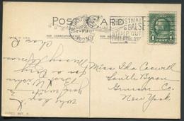 TUBERCULOSE - USA - N° 228 / CP AVEC O.M. DE DETROIT DU 20/12/1923E AVEC FLAMME ANTI TUBERCULOSE - TB - Disease