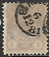 Finland  1877   Sc#24   1mark   Perf 11    Used   2016 Scott Value $125 - Gebraucht