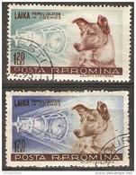 Romania - 1957  Sputnok & Laika Set CTO  Sc 1200-1 - Gebraucht