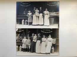 2x Foto Ak Magasin Epicier Rue Pernety 1915? - Plätze