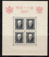 Pologne 1937 Yvert BF 4 ** Neuf Sans Charnière Visite Roi Carol De Roumanie. - Blokken & Velletjes
