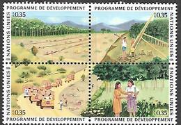 UN / Geneva 1986  Sc#144a   Development Program Block   MNH  2016 Scott Value $7.50 - Ungebraucht