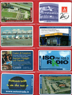 Telecom Italia °(4) - VIACARD-Autostrade -    8 Schede. - Schede GSM, Prepagate & Ricariche
