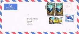 42051. Carta Aerea NEWMARKET (New Zealand) 1965 To England. Franqueo Mecanico - Covers & Documents