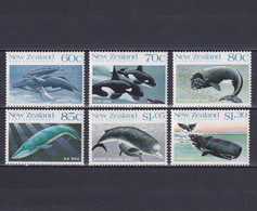 NEW ZEALAND 1988, Mi# 1056-1061, Animals, Whales, Dolphins, MNH - Unused Stamps
