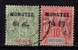 Mong - Tzeu  - Colonie Française - 1903 - Type Sage - N° 4/5 - Oblitéré - Used - Usados
