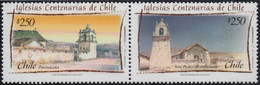 Chile 2007, Churches In North Chile, MNH Unusual Stamps Strip - Chile