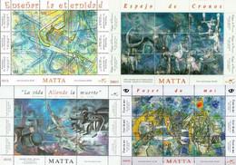 Chile 2008, Paintings Of Roberto Matta, Four MNH Sheetlets - Chile