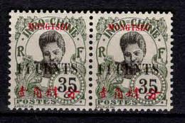 Mong - Tzeu  - Colonie Française - 1919 - TB Indochine Surch  - N° 60/60a Se Tenant  - Neufs * - MLH - Ungebraucht