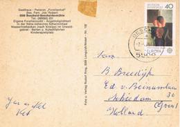 42054. Postal BESCHEID (Alemania Federal) 1975. Tema EUROPA. Vista De Gasthaus - Briefe U. Dokumente