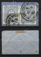 D. Reich Michel-Nr. 42b Paar Vollstempel Auf Briefstück - Geprüft - Oblitérés