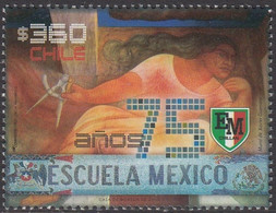 Chile 2017, 75 Years Of Mexican School, MNH Single Stamp - Chile