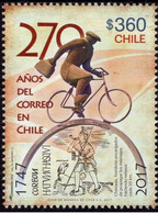 Chile 2017, 270th Anniversary Of Chilean Post, MNH Single Stamp - Chile