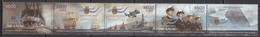 Chile 2018, 200th Anniversary Of Chilean Navy, MNH Stamps Strip - Chile