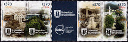 Chile 2019, Centenary Of Concepcion University, MNH Stamps Strip - Chile