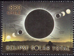Chile 2019, Total Solar Eclipse, MNH Single Stamp - Chile