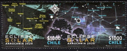 Chile 2020, Solar Eclipse, MNH Stamps Strip - Chile