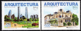 Chile 2020, UPAEP - Architecture, MNH Stamps Set - Chile