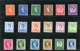 GREAT BRITAIN - 1960-67  QE II  MULTIPLE CROWNS PHOSPHOR SET OF 18  MINT NH - Unused Stamps