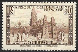 COTE D'IVOIRE   1939-42 -  Y&T  152 - Mosquée -  NEUF* - Unused Stamps
