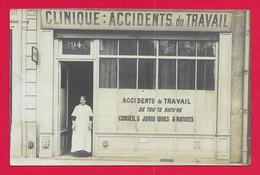 Carte Photo Santé - Seine - Paris - 94 Quai De Jemmapes - Clinique Spécialisée Dans Les Accidents Du Travail - Health