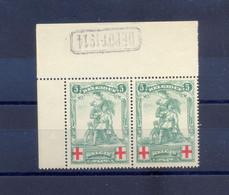 126 (2x)   Postgaaf ** Prachtig MNH + Depot Stempel - 1914-1915 Croce Rossa
